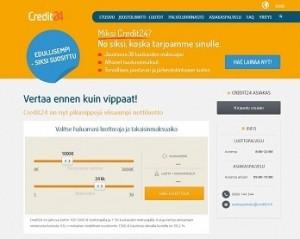 credit24 lainaa joustavasti ilman nostopalkkiota heti netistä