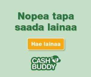 Cashbuddy toimittaa luoton heti tilille ja kokemukset siitä meillä ovat jopa viiden tähden veroiset eli ei lainkaan hassumpi paikka lainata rahaa
