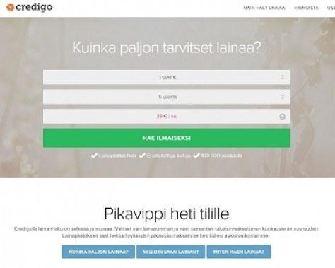 credigo.fi on selkeästi halvempi pikalaina ja kokemuksia voi luonnehtia positiivisiksi