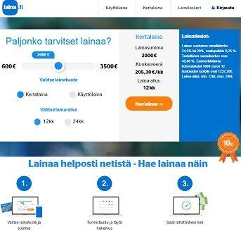 Laina.fi kertalaina on monipuolinen, helppo ja edullinen yhdessä erässä maksettava kulutusluotto!