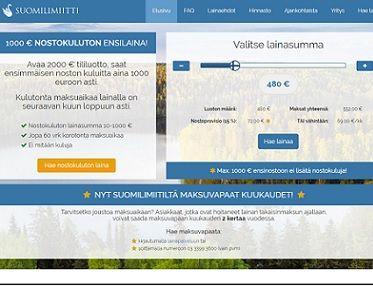Suomilimiitti.fi on vakuudeton joustava laina, jonka kulut ovat ensilainaajalle 0 euroa.