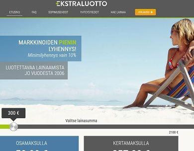 Ekstraluotto.fi antaa sinulle markkinoiden pienimmän lainalyhennyksen!