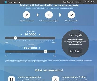 Lainamaailma.fi - välittää pankkilainat vakuudetta 500 - 50.000 euroon asti!