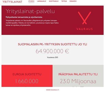 Yrityslaina turvallisesti netistä ilman vakuuksia ja takaajia Yrityslainat.fi-palvelusta.