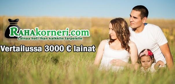 Lainaa 3000 euroa vertailussa - hae edullisin kulutusluotto heti ilman vakuuksia ja takaajia