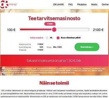 Ok Money on Suomen yksinkertaisin tasaerälimiitti netissä.