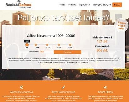 Netistälainaa.fi - uusi joustava laina on vähän kuin onlinessa toimiva luottokortti.