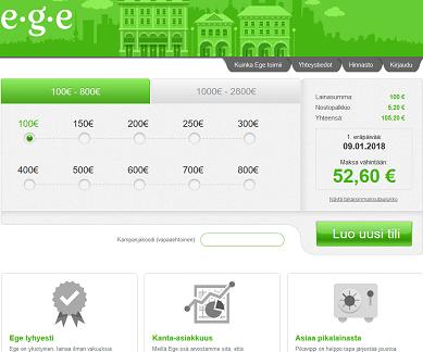Ege-laina on pikalaina, joka ei yllätä tai petä, hae 100-2800 euroa.