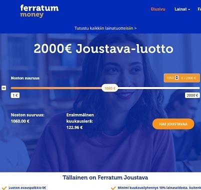 Ferratum lainaa vaivattomasti ja nopeasti sekä uusille asiakkaille se on täysin kuluton ja koroton!