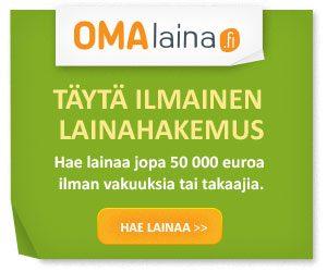 Ota omaa lainaa - K18 - ilman vakuuksia ja takaajia ihan sinne 50000 euroon asti.